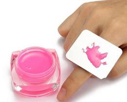 Outils de peinture des ongles en Ligne-Nail Art Maquillage Cosmétique En Acier Inoxydable Peinture Mélange Palette Anneau Make Up Outil