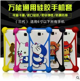 Wholesale Cases For Dolls - Universal Silicone Case Cartoon Character Bumper Frame Mickey Bear Stitch Monster Doll for iPhone x 8 7 plus 6s plus samsung note 8 s8 s7 s6