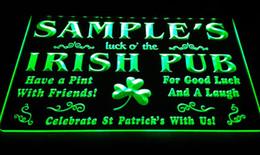 Wholesale Name Led - LS594-g Name Personalized Custom Luck o' the Irish Pub St Neon Light Sign.jpg