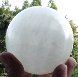 Wholesale Green Crystal Sphere - 100MM Natural White fluorite Crystal Sphere Glow In The Green Dark Stone ABA
