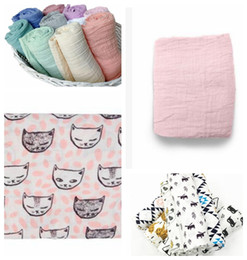Wholesale Bedding Photos - KKA3356 Muslin Cotton Swaddle 120CM Newborn Swaddling wrap Baby Bedding Newborn Robes Quilt Photo Prop Wraps Nursery Bedding KKA3356