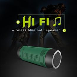 Wholesale Outdoor Wireless Radio - Portable Bluetooth Mini Speaker Wireless Waterproof Bluetooth SpeakerS with Power Bank Flashlight MP3 FM Radio HIFI Sport Speaker Zealot S1