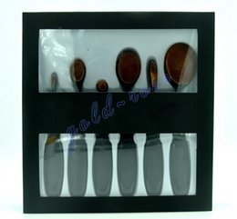 Wholesale Makeup Tool Goat Hairs - HOT Oval Makeup Brush Cosmetic Foundation BB Cream Powder Blush 6 pieces Makeup Tools DHL Free shipping+GIFT
