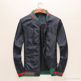 Wholesale Male Collars - Spring and Autumn burst jacket male stand collar foreign trade spliced tiger coat high-grade foreign trade