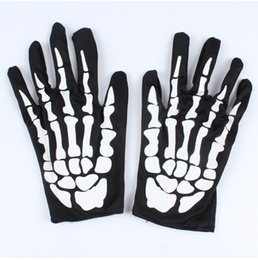 Wholesale Skeletons Props - Halloween skeleton gloves Costume party clothing accessories Performing props dance party supplies Horror ghost skeleton gloves