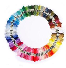 Wholesale Unique Crafts - The Unique Style 100pcs  bag Stitch Cotton Embroidery Thread Floss Sewing Skeins Craft Different Colors Wholesale