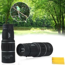 Wholesale New Generation Sports - New Generation Dual Focus! 16x52 Zoom In 66M 8000M Field Monocular Telescope Sports Hunting Concert Spotting Scope with Green Film