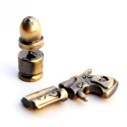 Wholesale Ear Cuff Gun - Hot New Pistol Bullet Gun Ear Cuff Charm Earring stud earrings for women men brincos jewelry