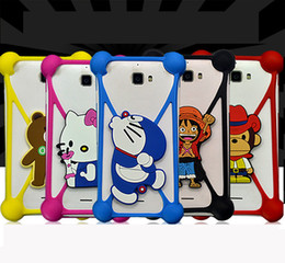 Wholesale Cheap Iphone Bumper Cases - Cheap Price Universal Silicone Bumper TPU Soft 3D Characters Cartoon Bumper Crossover Bumper with Kickstand for Iphone Samsung Xiaomi