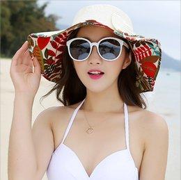 Wholesale Silver Wide Brim Hat - 2017 New Ms. Summer Sun Hat Wholesale Cap Large Brimmed Straw Sun Beach Hats Tide Tourism