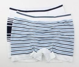 Wholesale Underwear Man D - S M L Da**d jo**s male Mid-Rise Lycra seamless striped boyshort Men's panties underwear men boxer shorts mix colo