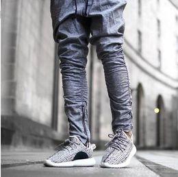 Wholesale Justin Bieber Mens Harem Pants - 2016 Sweatpants Justin Bieber Kanye Fear of God Trousers Mens Joggers Jumpsuit Urban Clothing Casual Harem Men Pants