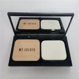 Wholesale Cheap Makeup Products - Fashion Whitening Press Face Powder New Oil-control Brighten Makeup Products Presses Powder for Womens All Skin Cheap