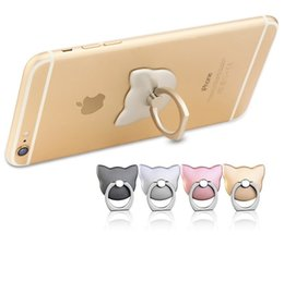 Wholesale Pink Mobile Phones - 360 Rotating Metal Ring Mobile Phone Holder Universal Mount Finger Grip for Samsung Galaxy S7 S8 s8 plus iPhone 6 6s Plus stand