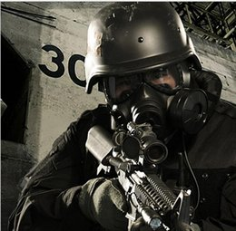 Wholesale Gas Conditioning - M04 Fan Air Conditioning Skull Biochemical Gas Mask Paintball Airsoft Mask Army Military Equipment Macka Respirator Mascara