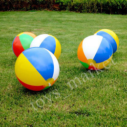 Wholesale Items New Party - New Summer 23cm Beach Ball Multi-colour Outdoor Beach Ball Water Sports Balloon Water Toys Party A Gift For Children