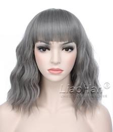 Wholesale Cosplay Wigs Lolita - Fashion Body Wave Grey Short Wig Lolita Cosplay Wig Short Bob Wig Grey Hair Wigs for Women
