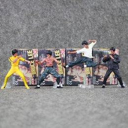 Wholesale Master Collection - Bandai Bruce Lee Figures Kung Fu Master Legend Action Figure PVC toy Plastic Collection Dolls For Gifts free shipping retail