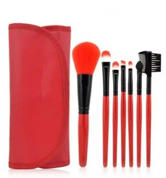 Wholesale Eye Shadow Brushes Sponge - 2017 makeup brush 7pcs a set within package Mobile flash unique brushes Eye-shadow Brush Sponge Sumudger Make Up Tools PU Bag DHL free