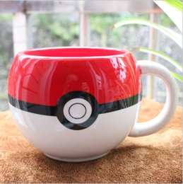 Wholesale Movie Cups - Poke Cups Ball New Cartoon Kitchen Dining Bar Mugs Movie Anime Character Monster Pocket Water Milk Coffee Pottery Drinkware Cups With Box