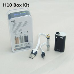 Wholesale Ecigarette Cartridges - 100% Original Newest Hibron E cigs H10 CE3 Atomizer vape box mod Kit CBD Oil BUD With Ecigarette vaporizer pen cartridges starter kits