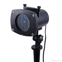 Wholesale Laser Rotating Lamp - 12 Colorful Patterns Outdoor Projector Laser Lighting Landscape Lawn Lamp Rotating Snowflake Star Spotlight Wall Decoration Projector Light