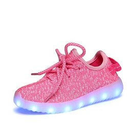 Wholesale Cow Girl Fashion - New fashion light up kids led shoes luminous girl boys shoes color glowing casual with simulation sole charge Childrens