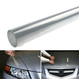 Wholesale Tint Headlight Cars - 30 x 120cm Transparent Car Styling Headlight Sticker Brake Tail Light Tint Vinyl Wrap Film Sheet Cover Sticker Protection