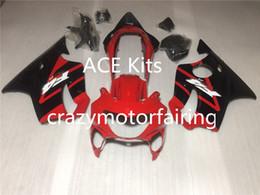 Wholesale Cbr F4 Fairings - New 100% Fit Injection molding Fairing Set for HONDA CBR600F4 99-00 CBR 600 F4 FS CBR600FS CBR 600F4 F4 99 00 1999 2000 nice black red W3