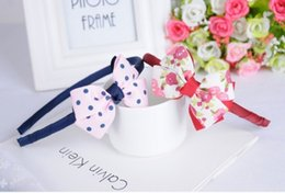 Wholesale Baby White Flower Headband Bow - Handmade Boutique Headband with Fabric Bow for Baby Girls Hair Accessories Hair Flowers Bow Tie Head Bands Sticks Wholesales