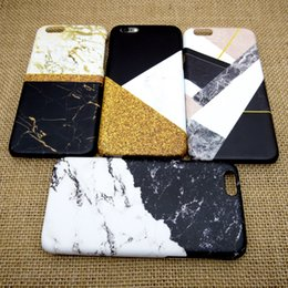 Wholesale Black Granite Stones - SoCouple For iphone 5s 5 SE 6 6s 6 7plus Flower Granite Scrub Marble Stone image Painted Silicone Phone Case For iphone 7 case