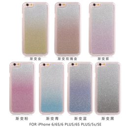 Wholesale Iphone5 Case Glitter Bling - Gradient Colorful Powder Bling Glitter Shiny Scrub Frosted Soft TPU Back Cover Case For Samsung Galaxy S7 S7edge iphone5 iphone6 plus mobile