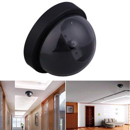 Wholesale Led Cmos Camera - Factory wholesale Surveillance Camera Dummy Fake Surveillance CCTV Security Dome Camera With flashing red LED light mini camera