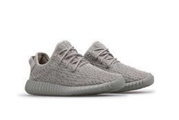 Wholesale Dhl Men Shoes - DHL Freeshipping 2016 Factory 350 Boost Moonrock Men Running Shoes Sneakers Women Fashion Basketball Shoes with Double Box Receipts