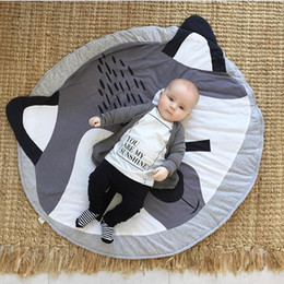 Wholesale Baby Playmats - INS Fashion Europe Baby fox pattern rugs lovely for gril boys room playmats Carpet mat game quilt cartoon nursery furniture