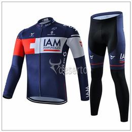 Wholesale Iam Cycling - 2015 Newest IAM cycling jerseys deep blue Bike Wear compressed quick dry cycling jersey autumn long sleeves+none bib shorts size XS-4XL