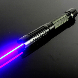 Wholesale Burn Matches Laser - Strong high power focus blue laser pointers 450nm burning match dry wood black cigarettes Lazer+star caps+changer+box Free Shipping