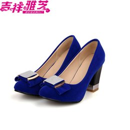 Wholesale Small Yards 31 Size - Shallow mouth round toe bow diamond 41 42 ultra high heels thick heel 31 plus size shoes small yards 40 - 43 32 33 free shipping