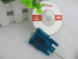 Wholesale Port Rs 232 - 100pcs lots USB to RS232 RS-232 Converter COM Port Serial PDA 9Pin DB9 Cable Adapter Free shipping