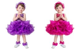 Wholesale Infant Spaghetti Strap - 2016 Exquisite Spaghetti Strap Infant Mini Short Skirts Little Princess Girls Crystal Pageant Dresses By Rhinestones Toddler Prom Party