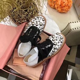 Wholesale Womens Brogues - 2018 Shinny Rhinestone Leather Shoes Flats Lace up Round toe Womens Brogue Derdy Shoes Female