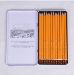 Wholesale Tin Packing Box - KOH-I-NOOR 12 degree hardness(2H-8B) graphic pencils set, drafting pencil set packed in tin box