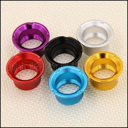 Wholesale E Cig Rings Adapter - Colorful ego Adapter connector decorative ring for vivi nova Mini vivi nova protank atomizer clearomizer ecig ego 510 thread battery e cig