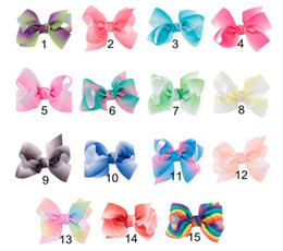 Wholesale Handmade Flower Headband - Handmade colorful gradient Polyester Satin ribbon Bow Flower Tie Appliques Wedding Scrapbooking Embellishment Crafts Accessory