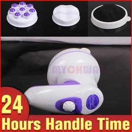 Wholesale Head Massaging Equipment - Newly Vibration Massager Cellulite Reduce Body Shaping Slimming Portable Beauty Equipment with 2 Designed Massage Heads