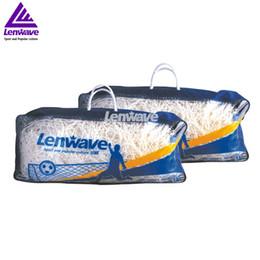 Wholesale Pe Net - (11Players )Football  Soccer Net Polyethylene Pe Material Sports Rope Net Free Shipping Football Ball Net