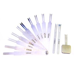 Wholesale Tubular Lock Supply - NEW Model Locksmith Supplies Lock Picks Professional Used Locksmith Tools Blade Feeler Gauge