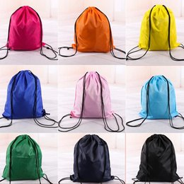 Wholesale Woven Drawstring Backpack Wholesale - Hot Drawstring Non-woven fabric Tote bags waterproof Backpack folding bags Marketing Promotion drawstring shoulder bag Storage Bags 2875