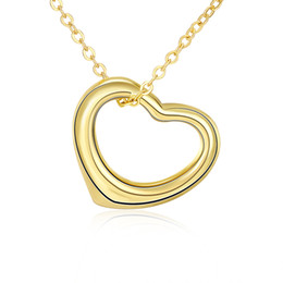 Wholesale New Products South Korea - 2017 new products high quality jewelery, fashion K gold Japan and South Korea creative personality hollow heart shaped necklace N045