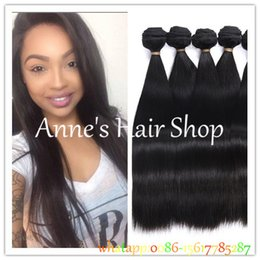 Wholesale Straight Brazilian Hair One Bundle - Peruvian Virgin Hair Straight 3 Bundle Deals 7A Unprocessed Virgin Peruvian Straight Weave Bundles Cheap Human Hair Weave Online